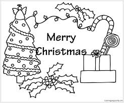 coloring page of christmas tree with presents christmas tree and presents coloring page christmas coloring pages