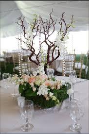manzanita tree centerpieces manzanita tree wedding centerpiece with moss orchids blush roses