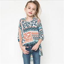 bebe blouses bohemia junior vintage floral shirts 2016 fashion cotton