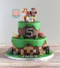 mindcraft cake constructing minecraft cake designs and block party ideas