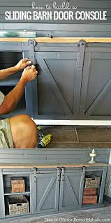 How To Build A Sliding Barn Door Remodelaholic How To Build A Sliding Barn Door Console For Your
