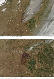 Satellite Map Of Washington State by Nasa Satellite Photos Of The Huge Anderson Creek Fire In Ok And Ks