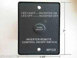 12 volt push button light switch wfco inverter remote control on off switch push button rv camper