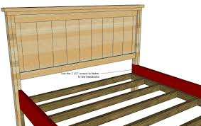 How To Build Bed Frame And Headboard White Farmhouse Bed Calif King Diy Projects