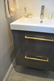 ikea godmorgon vanity in high gloss grey house u0026 home ensuite