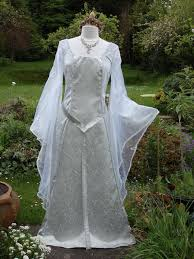 lord dresses for weddings lord of the rings silver galadriel arwen celtic bespoke white