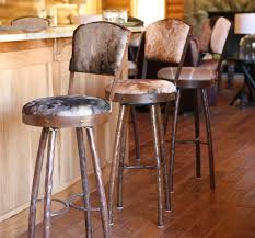 wrought iron bar stools with backs of rustic animal wrought iron