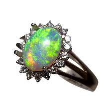 gem diamond rings images Lime green crystal opal diamond ring 14k opal rings flashopal jpg