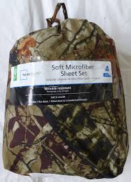 Camouflage Sheet Set Upc 844178027632 Mainstays Queen Size 4 Piece Soft Microfiber