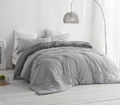 dorm room bedding striped gray and white college comforter dorm
