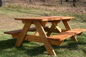 patio picnic bench table set elegant diy solid wood picnic table