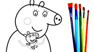 mummy pig baby alexander a lot of peppa pig giant coloring pages