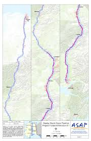 Alaska Route Map by Alaska Stand Alone Gas Pipeline Supplemental Environmental Impact