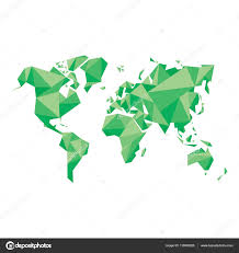 abstract world map vector illustration geometric structure in