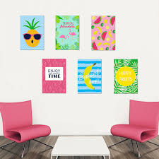 stickers cuisine enfant wall sticker ananas pastèque banane fruit drôle photo sticker