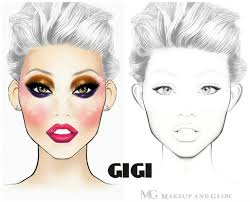 makeup artist sketchbook 27 best charts images on make up beauty makeup