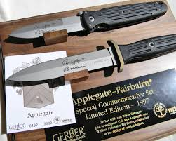 Gerber Kitchen Knives Gerber Boker Knives Applegate Fairbairn 1997 Commemorative Set