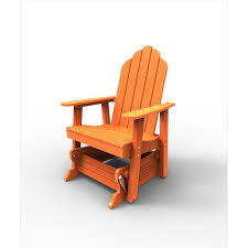 Outdoor Single Glider Chair Malibu Outdoor Living Adirondack Glider And Rocking Chairs