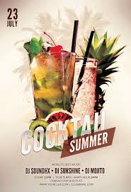 cocktail summer flyer template on behance