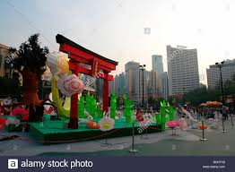 moon festival decorations lanterns decoration during mid autumn festival or moon festival in