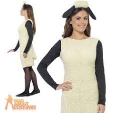 Mens Sheep Halloween Costume Shaun Sheep Fancy Dress Costume Timmy Mens
