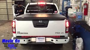 nissan frontier dash cover truck tailgate brake light bar and under dash lighting youtube
