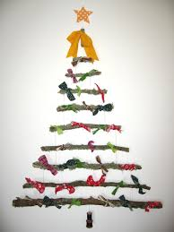 charming decoration stick christmas tree a little craft