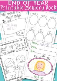 end of year memory book free printable memory books end of