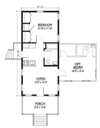 Cottge House Plan by Cottage Style House Plan 1 Beds 1 Baths 576 Sq Ft Plan 514 6