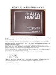alfa romeo campionario colori image scanner color