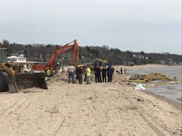 construction equipment removed after getting stuck in lake