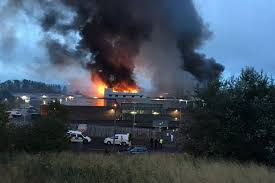 Wildfire Rap Song by Glasgow Fruit Market Blaze In Pictures Famous Warehouse Destroyed