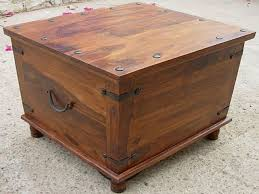 Large Storage Coffee Table Coffee Table Russet Solid Wood 4 Doors Square Rustic Coffee Table