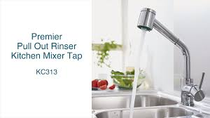 premier pull out rinser kitchen mixer tap youtube