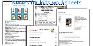 english teaching worksheets movies kids