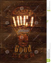 poster idea wood stock vector image of advertise 39600791
