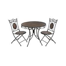 Garden Bistro Table Antique Brown Iron Garden Bistro Table With Two Chairs
