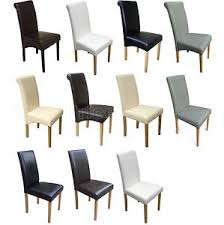 Quality Leather Dining Chairs Quality Faux Leather Dining Room Chairs Brown Black Grey Ivory