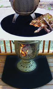 amazon com the blue rooster co flexible fire resistent chiminea