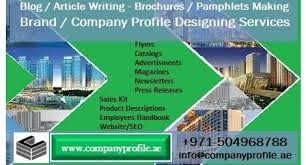 company profile writing dial now 971 504968788 company profile writing making services in