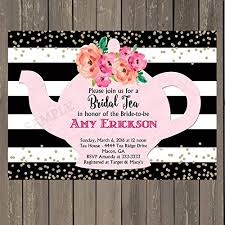 bridal tea party invitations bridal shower tea party invitation with black and