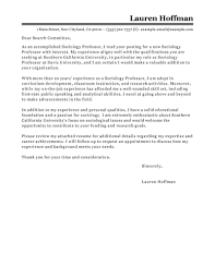 leading professional professor cover letter examples u0026 resources