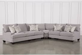 Down Sectional Sofa Harper Down 3 Piece Sectional Living Spaces