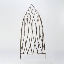 gothic arch trellis in garden outdoor garden planters garden
