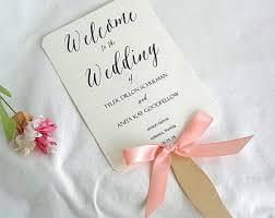 wedding program on a fan fan wedding program etsy