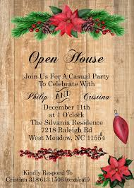 christmas invitations christmas open house party invitations 2017
