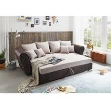 big sofa mit schlaffunktion und bettkasten wohnlandschaft in mikrofaser vintage look braun mit 3
