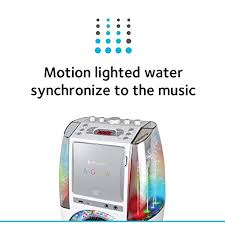 singing machine with disco lights singing machine sml605w agua dancing water fountain karaoke system