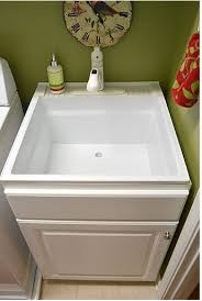 Base Cabinet For Sink Utility Sink Inside Base Cabinet Laundry Room Pinterest