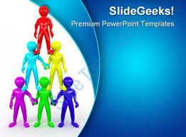 team pyramid leadership powerpoint templates and powerpoint